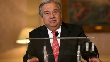 New approach?: United Nations Secretary-General Antonio Guterres has proposed targeting fees paid to countries that provide troops.