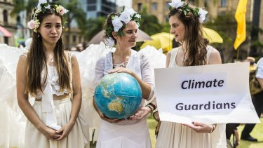 Thouands of people attended the People's Climate March in Brisbane.