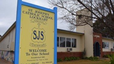St Joseph's School in Lockhart, attended by the Hunt children.