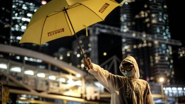 A pro-democracy activist in Hong Kong.