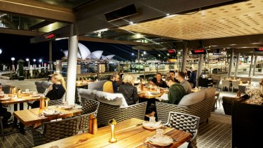 The terrace at 6 Head restaurant at Campbell's Stores in The Rocks.