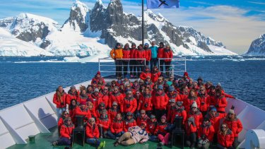 The 2016 Homeward Bound contingent aboard the Ushuaia.