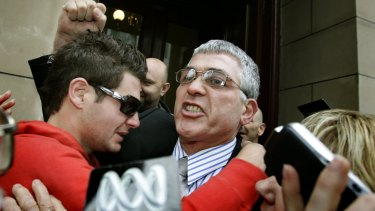 Mick Gatto walks free from the Supreme Court after being acquitted of murdering Andrew Veniamin in a Carlton restaurant in 2004.