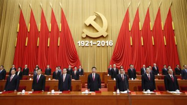 The Politburo Standing Committee in 2016.