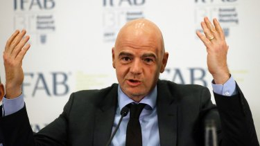 Video reviews on track: FIFA president Gianni Infantino has signalled the 2018 world cup will feature video reviews.