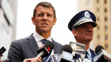 Premier Mike Baird and Police Commissioner Andrew Scipione.