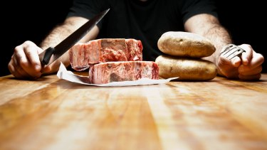 Meat and potatoes? Starchy carbohydrates led to evolution too, researchers say.