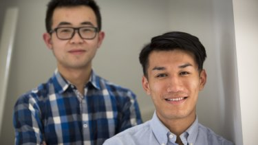Freddy Ma (left) and Sean Song, co-founders of a new group aimed at stamping out exploitation of Chinese migrants.