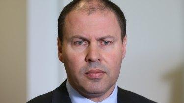 Minister Josh Frydenberg at Parliament House in Canberra.