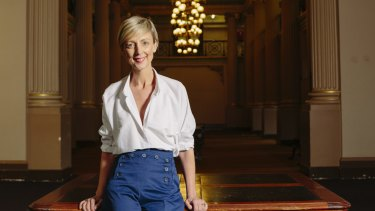 State Library of Victoria CEO Kate Torney in Queens Hall.
