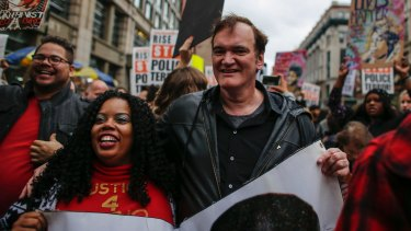 Quentin Tarantino has not had many high-profile supporters after his comments at the Rise Up October march to denounce police brutality in Washington Square Park, New York.
