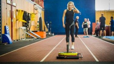Caroline Buchanan has started training at the AIS.