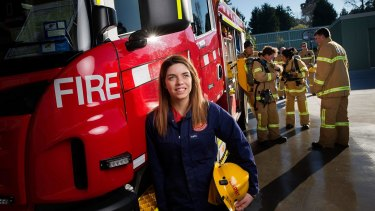 Year 12 student Taylor Lindsay hopes that her volunteering at the Country Fire Authority will give her priority selection for a nursing degree next year.