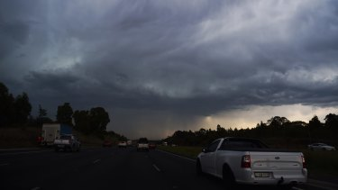 Severe storms hit the Campbelltown region on Friday afternoon.