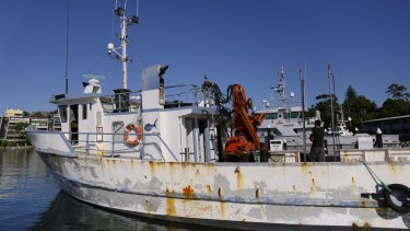The Dalrymplye fishing vessel is raided at the Brooklyn Marina.