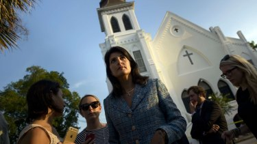 'This is the worst hate (crime) that I've seen - and that the country has seen - in a long time' ... South Carolina Governor Nikki Haley who is calling for the death penalty for Dylann Roof.