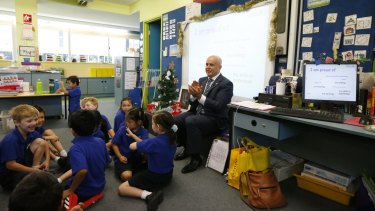 NSW Education Minister Adrian Piccoli formerly at Ultimo Public School, where he was a no-show on Wednesday