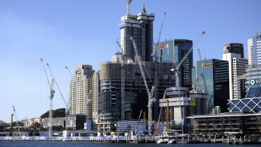 Under construction: Approval for  Barangaroo took just three months.