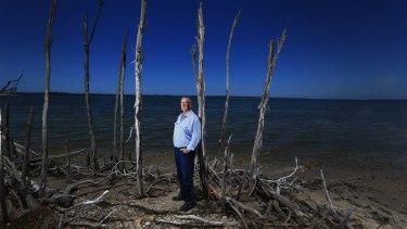 Ross Scott fears high salinity is killing lake plants.