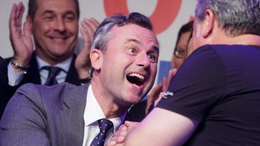 "Far-right candidate Norbert Hofer conceded defeat, writing: ""Of course I am sad today."""