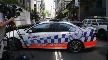 Police have sealed off part of the Sydney CBD.