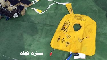 A life vest from EgyptAir flight 804 found floating along with human remains, luggage and seats from the doomed jetliner.