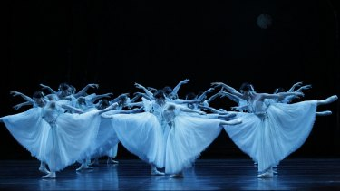 """The Wilis in the second act of """"Giselle""""."""