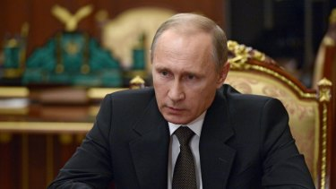 Vowed revenge ... Russian President Vladimir Putin says his country will hunt down those behind the bombing of a Russian airliner over Egypt.