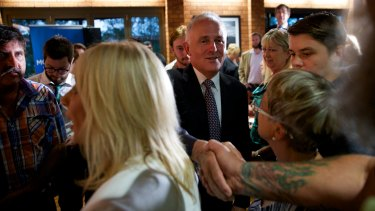 Malcolm Turnbull meets locals on the Central Coast after a 'Politics in the Pub' forum.