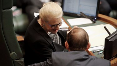 """Prime Minister Tony Abbott said on Friday that Speaker Bronwyn Bishop was a """"very, very chastened person""""."""