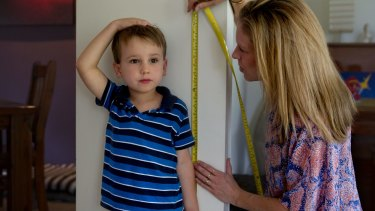 Measuring your child's height is a simple maths activity.