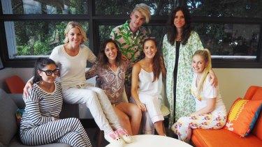Pyjama Day at Hardtofind: Giorgii Tsironis, Erica Stewart (founder), Erin Brennan, Will Davidson, Georgia Prince, Sarah Ford and Alice Harrington.