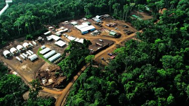 The Mbalam Camp iron ore project in the Congo.