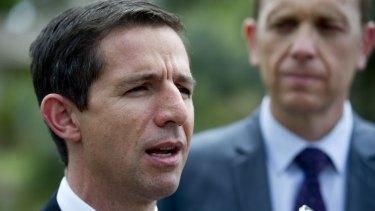 Ban: Senator Simon Birmingham calls a halt to private college inducements.