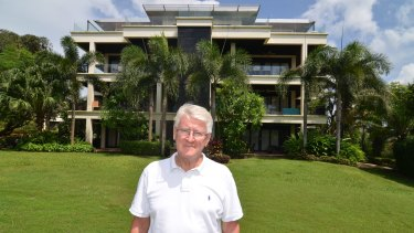 Melbourne retiree Daryl Davies outside the Chom Tawan residential development on Phuket's west coast. He and other buyers face eviction.