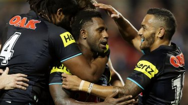 Borrowed time: Penrith hooker James Segeyaro appears to be on the outer at Penrith.