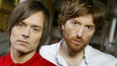 """""""We are very different people"""": Air's Jean-Benoit Dunckel (left) and Nicolas Godin."""
