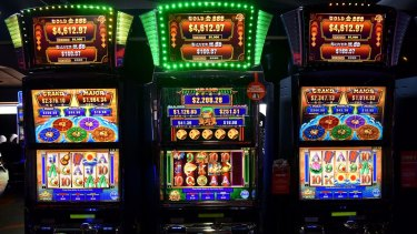 Poker machines are a common vice.