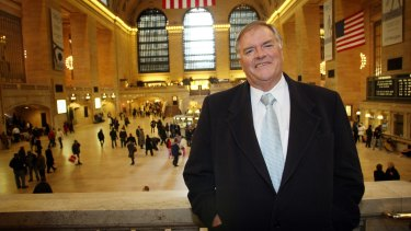 Former Opposition leader Kim Beazley in Grand Central Station in New York. He was named in the Australia Day honours list.
