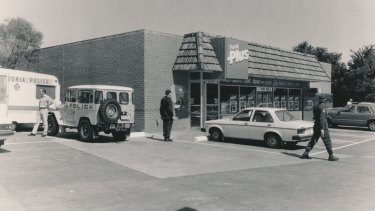 Kylie Maybury disappeared after walking to this Food Plus store in Plenty Road, Preston, in November 1984.
