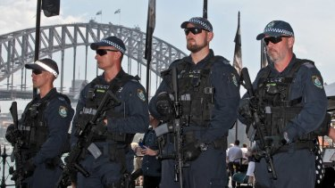 Public Order and Riot Squad officers with the Colt M4 assault rifles.