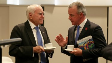 Former prime minister John Howard and Australian War Memorial director Brendan Nelson on Tuesday