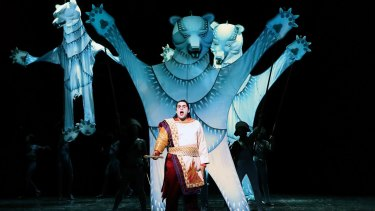 Crowd-pleaser: Opera Australia's Julie Taymor production of <i>The Magic Flute</i> features spectacular puppets.