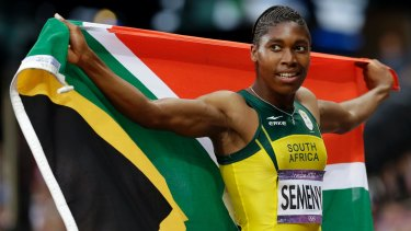 South Africa's Caster Semenya after finishing in second place in the women's 800m final at the 2012 Olympics in London.