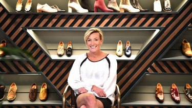 Anna Baird, the owner and designer of Bared Shoes.