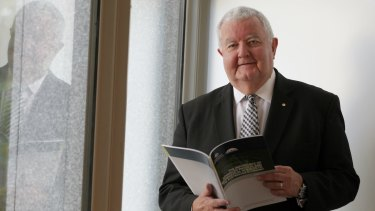 Chief Scientist Professor Ian Chubb at the science report launch at Parliament House in Canberra on  March 25.