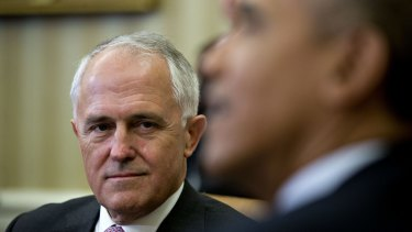 Prime Minister Malcolm Turnbull with US President Barack Obama earlier this year.
