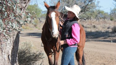 Ange MacAlpine, 29, works remotely in the finance sector from a property in The Marra in outback NSW.
