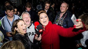 Newly formed party, The Alternative, holds an election party in Copenhagen on election day.