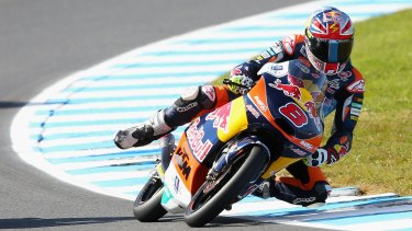 Jack Miller during free practice on Friday for the Phillip Island Grand Prix.